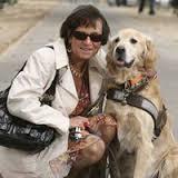 Maudy Piot et son chien