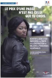 affiche montrant une prostituée d'orgine africaine