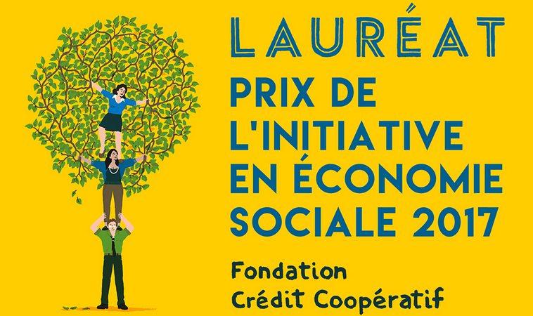 macaron du lauréat de la Fondation du Crédit coopératif