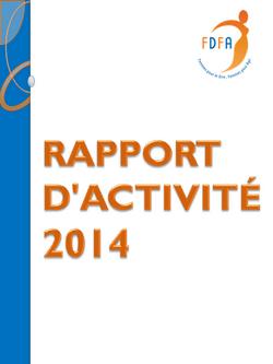 couverture du rapport d'activités 2014