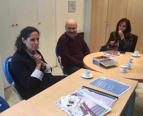 Ana, Luis et PIlar du CERMI à FDFA