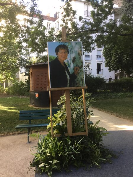 jardinb Maudy Piot avec sa photo