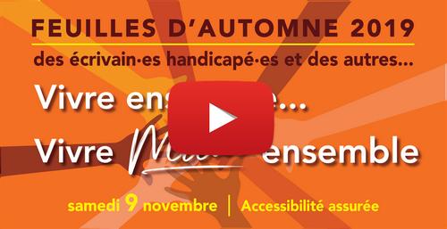 feuilles d automne avec bouton pour vidéo
