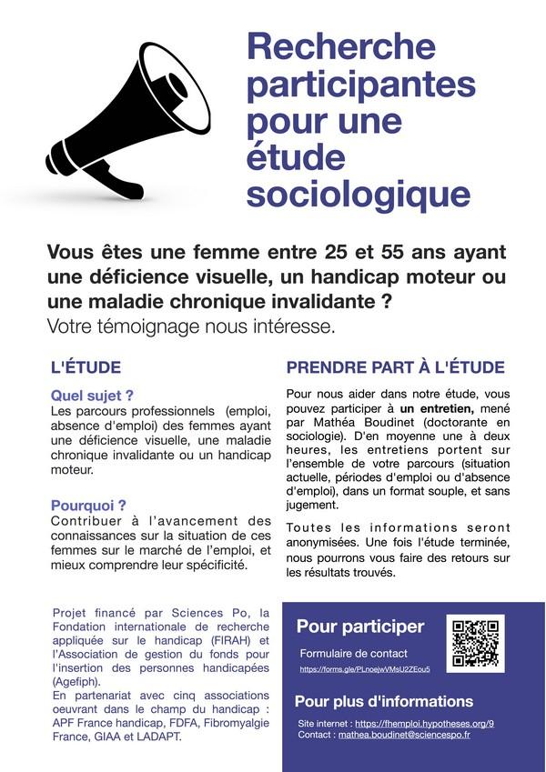 présentation de létude de Mathéa Boudinet