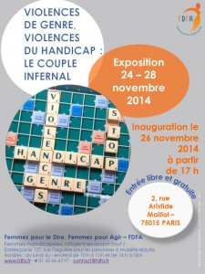 handicap et violences écdrits en scrabble