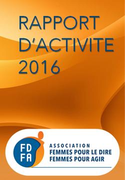couverture du rapport d'activités 2016