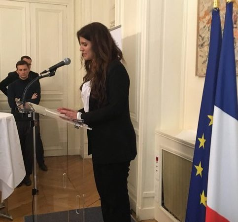 Marlène Schiappa faisant son discours