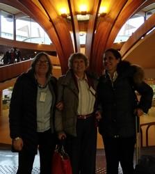 Sarah Woodin, Claire Desaint et Ana Pelaez au Palais de lEurope