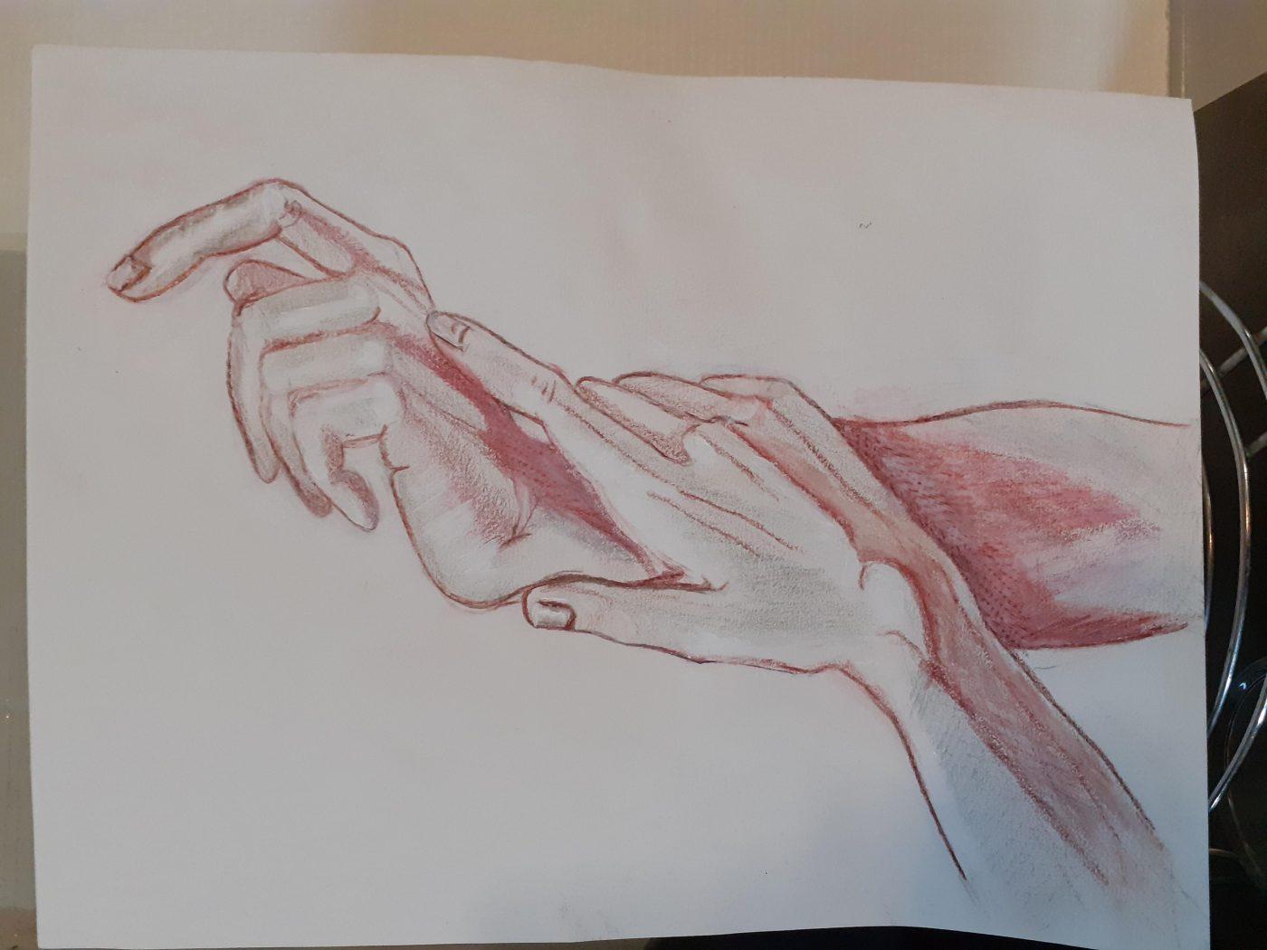 des mains enlacées
