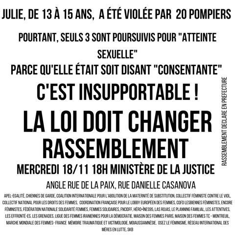 affiche pour le rassemblement