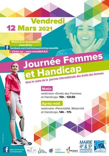 affiche de la journée du 12 mars Femmes et Handicap à Marseille