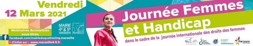 Bandeau JOurnée femmes et handicap à Marseille
