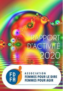 couverture du rapport dactivité 2020